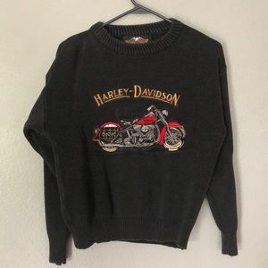 Vintage Harley Davidson Sweater with Embroidery